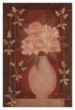 Fleurs Rouge II Art by Jennifer Carson