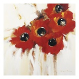 Crimson Poppies I Art by Natasha Barnes