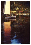 New England Sunset Sail Poster by Brent Lynch