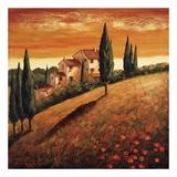 Sunset Over Tuscany I Posters par Santo De Vita