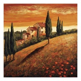 Sunset Over Tuscany I Posters by Santo De Vita
