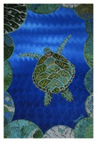 Turtle on Blue Prints by Rogest