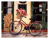 My Red Bicycle Prints by Suzanne Etienne