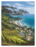 Vineyard Village by the Sea Prints by Sung Kim