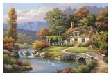 Cottage Stream Kunstdrucke von Sung Kim
