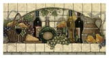 Vins, fruits et tourte au fromage Poster par Janet Kruskamp