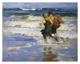 At The Beach Prints by Edward Henry Potthast