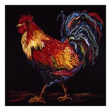 Red and Gold Rooster Prints by Suzanne Etienne
