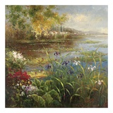 Village Pond Print by  Hulsey