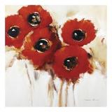 Crimson Poppies II Posters af Natasha Barnes