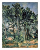 The Aqueduct at Montagne Sainte-Victoire Poster par Paul Cézanne