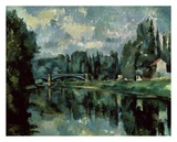 The Banks of Marne Poster by Paul Cézanne