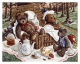 Bear&#39;s Picnic Art by Janet Kruskamp
