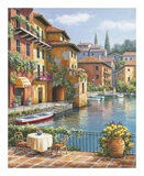 Cafe At The Canal Prints by Sung Kim