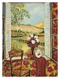 Cabbage Rose Wallpaper Affiches par Suzanne Etienne