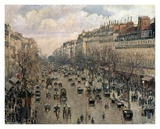 Boulevard Montmartre, Afternoon Sun, 1897 Print by Camille Pissarro