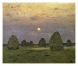 Haystacks Twilight, 1899 Posters by Isaac Levitan