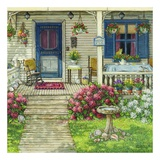 Front Porch In Maine Prints by Janet Kruskamp