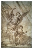 Guardian Angel Prints by Domenico Piola