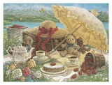 A Beary Nice Picnic Prints by Janet Kruskamp