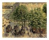 Place Due Theatre Francais, 1898 Affiche par Camille Pissarro