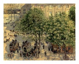 Place Due Theatre Francais, 1898 Print by Camille Pissarro