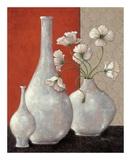 Silverleaf And Poppies I Print by Janet Kruskamp