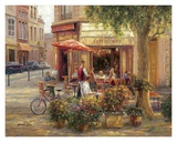 Cafe Corner, Paris Prints by Haixia Liu