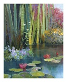 Lilies Adorning The Pond Posters by Kent Wallis