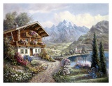 High Country Retreat Print by Carl Valente