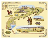 Golf Course Map, St. Andrews Affiches par Bernard Willington