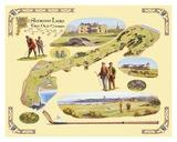 Golf Course Map, St. Andrews Plakater af Bernard Willington