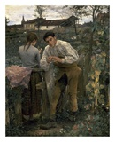 Rural Love Print by Jules Bastien-Lepage