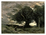 Gust of Wind Posters by Jean-Baptiste-Camille Corot
