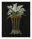 Floral Noir Lilacs Art by Janet Kruskamp