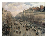 Boulevard Montmartre, Afternoon Sun, 1897 Poster by Camille Pissarro