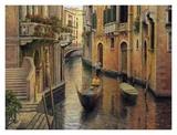 Tarde dorada en góndola|Golden Evening Gondola Arte por Haixia Liu