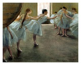 Dancers at Rehearsal Prints by Edgar Degas