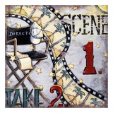Scene One Take Two Poster van Janet Kruskamp