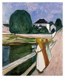 The Girls on the Pier, 1901 Affiches par Edvard Munch