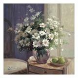 Marguerites Et Pommes Vertes Affiche par  Lilian