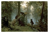 Morning In A Pine Forest Prints by Ivan Ivanovitch Shishkin
