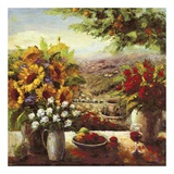 Sunflowers With Fruit And Wine I Plakater