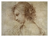 Profile of a Woman Print by Guercino (Giovanni Francesco Barbieri)