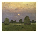Haystacks Twilight, 1899 Prints by Isaak Ilyich Levitan