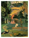 Landscape with Peacock Poster par Paul Gauguin