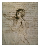 Sketch of a Child Láminas por Guercino (Giovanni Francesco Barbieri)