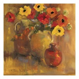 Red And Yellow Poppies Posters by Lorrie Lane