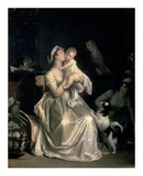 Motherhood, 1805 Print by Marguerite Gerard