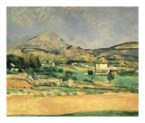 A View Over Mont St. Victoire Prints by Paul Cézanne